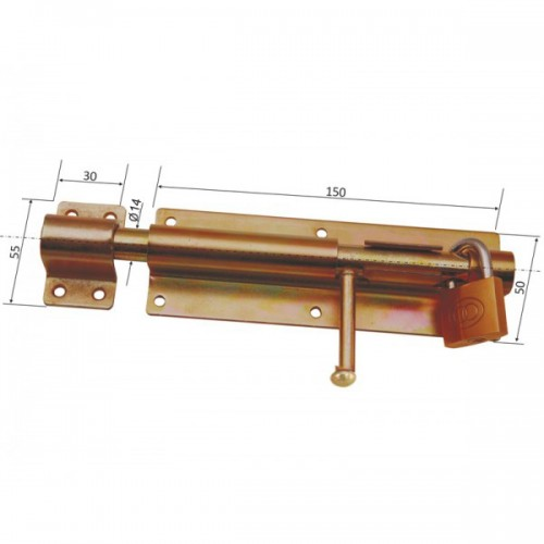 Zavor mare cu tija cilindrica 1-15-50C-150